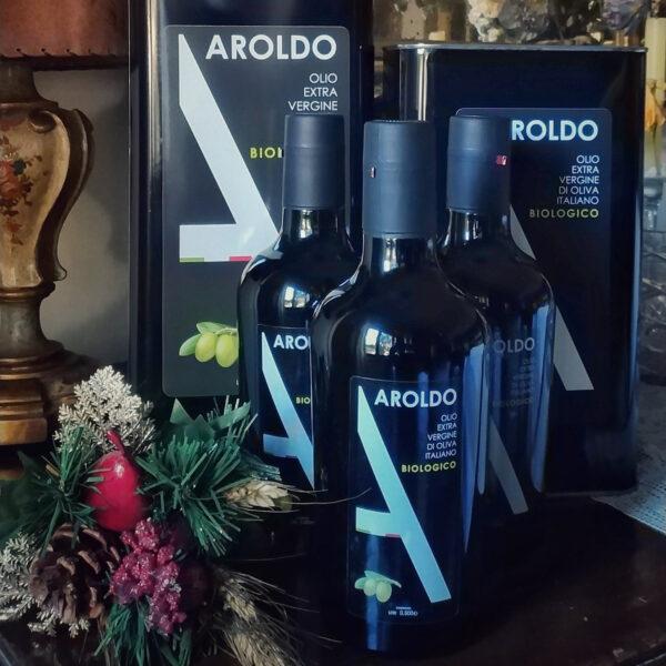 Formati Olio Aroldo extravergine italiano biologico