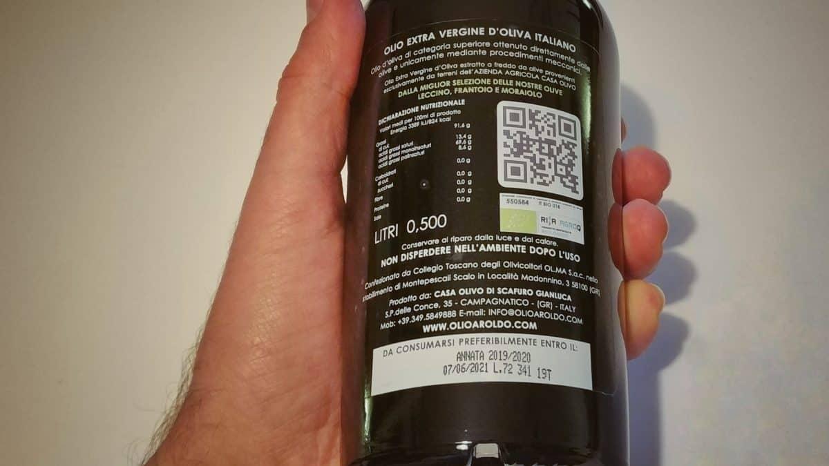 Come leggere l'etichetta dell'olio extra vergine di oliva